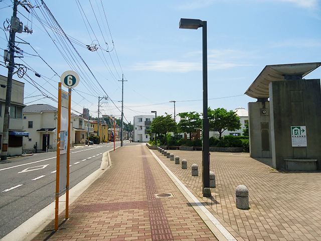 広電6号線 江波西二丁目バス停