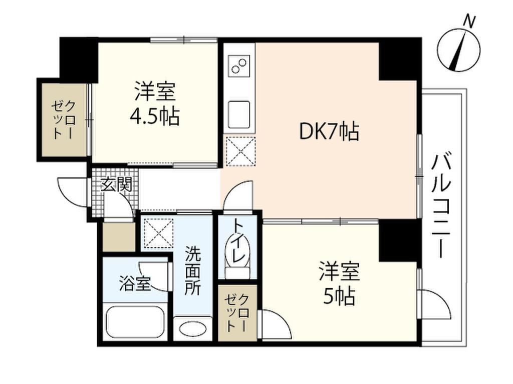 メゾン ド 銀山 間取図1201号室