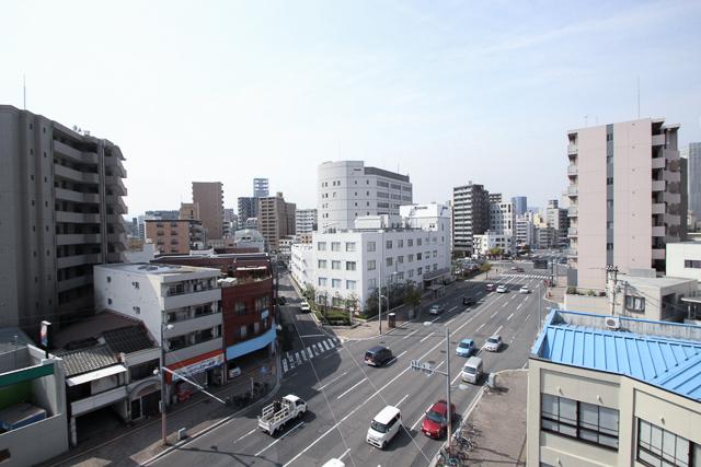 バルコニーからの眺望 広島中区のデザイナーズDOLCE竹屋町