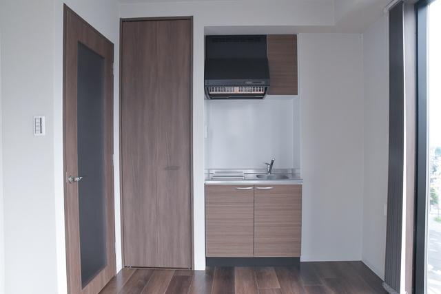 コンパクトですっきりとしたキッチン 広島中区のデザイナーズDOLCE竹屋町