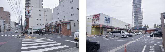 周辺環境・コンビニとスーパー 広島中区のデザイナーズDOLCE竹屋町