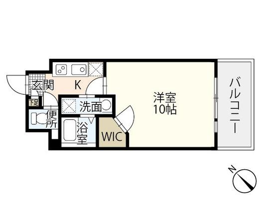 広島市東区牛田の新築賃貸マンション「ビーズヒルズ ステージ」の間取り