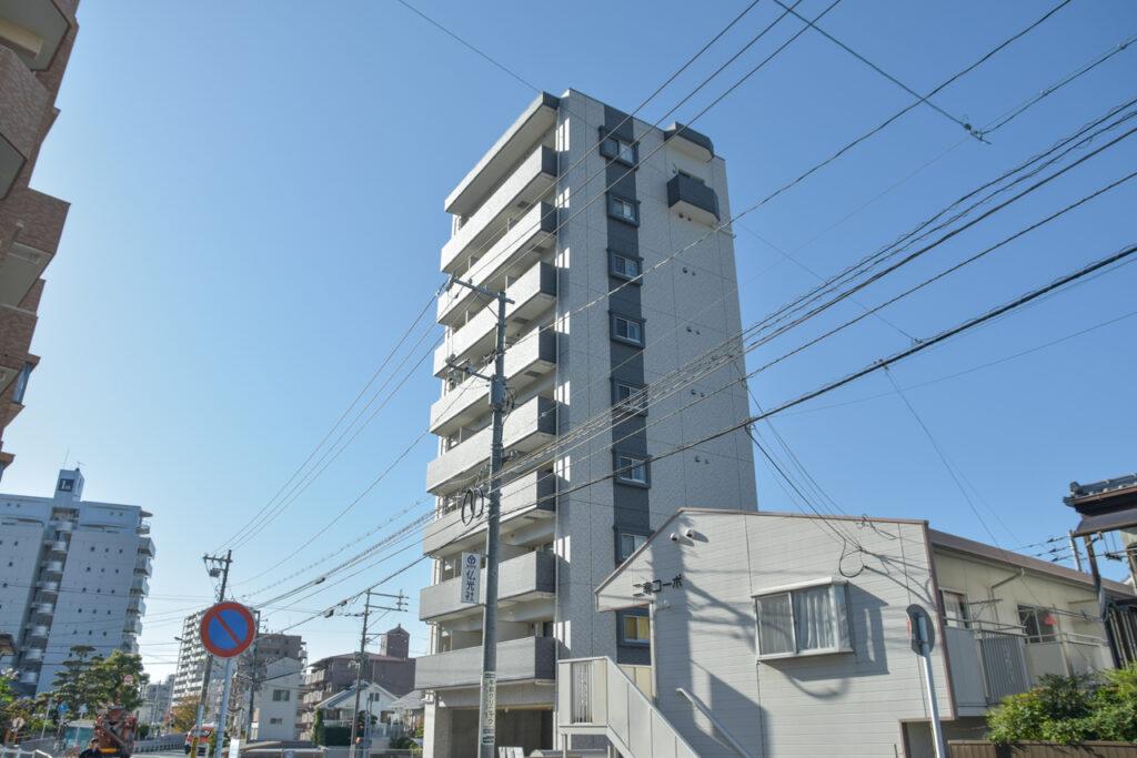 広島市東区牛田の新築賃貸マンション「ビーズヒルズ ステージ」の外観