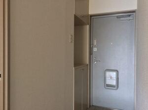 玄関とコンパクトめの靴箱